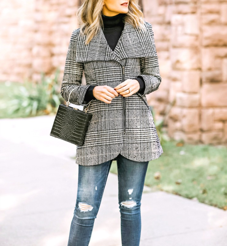 French Connection Plaid Coat