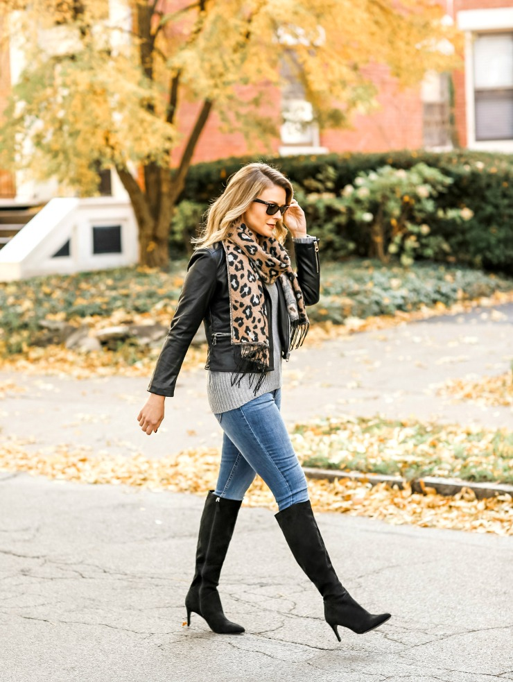 how to wear knee-high boots