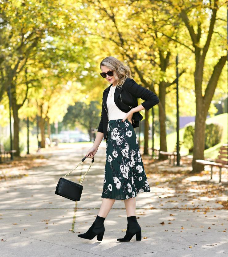 perfect fall midi skirt