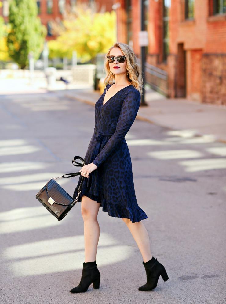 Scoop Leopard Print Dress