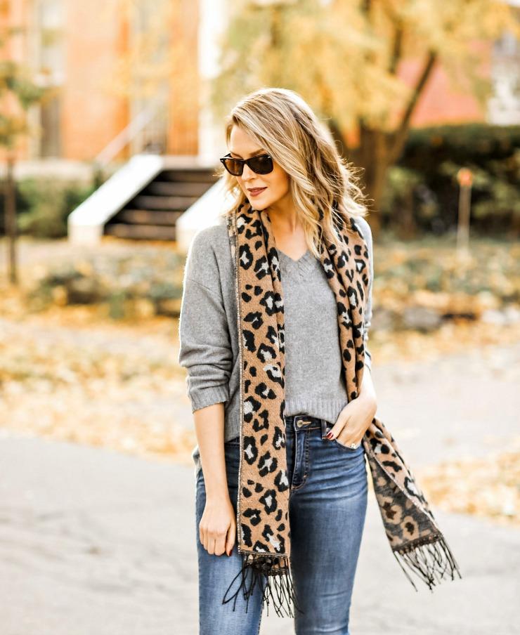 Scoop Leopard Print Scarf