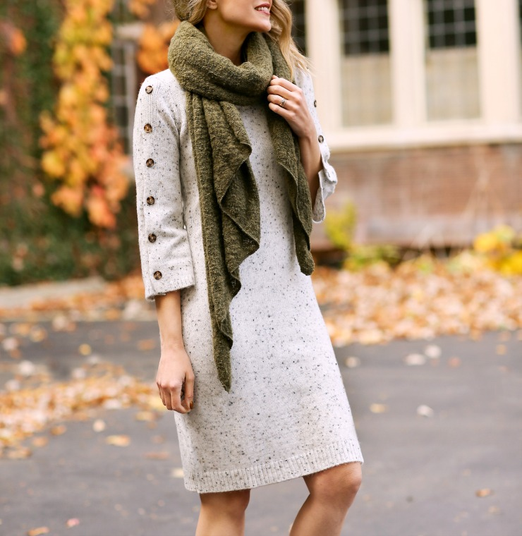 JCPenney speckled sweaterdress
