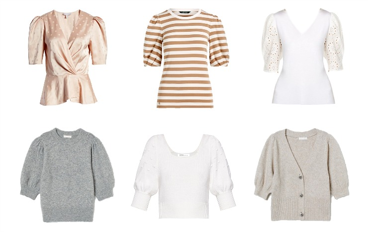 puffed-sleeve tops