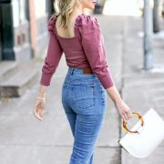 Express Medium Wash Mom Jeans