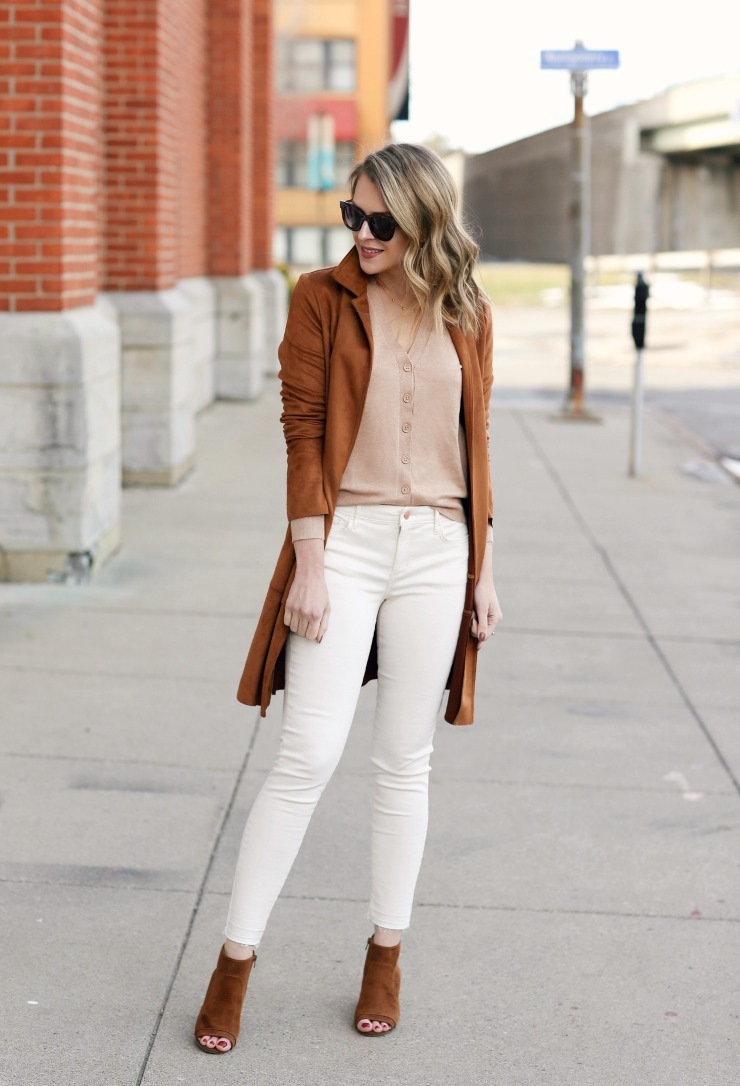 white jeans transitional outfit