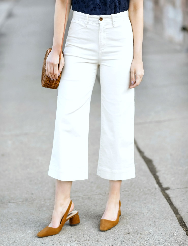 Gap wide leg crop khakis