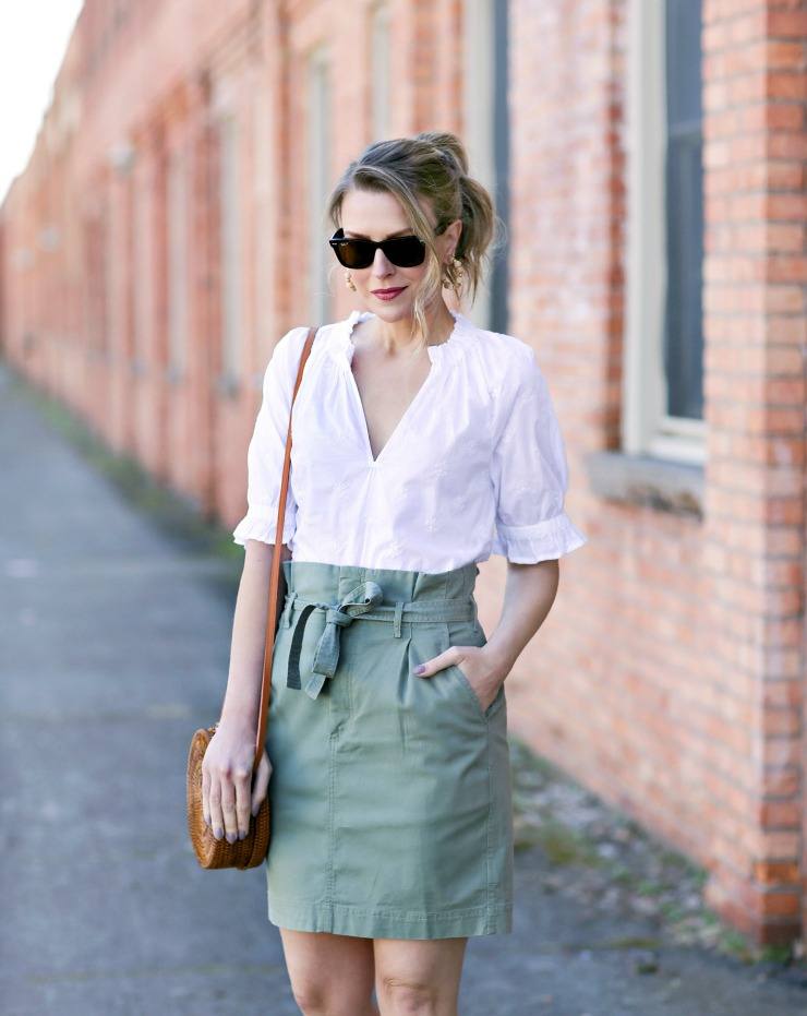 Gap paperbag waist skirt