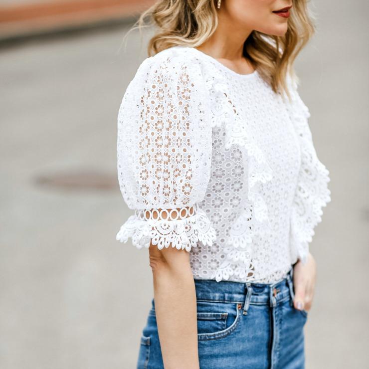 white crochet lace