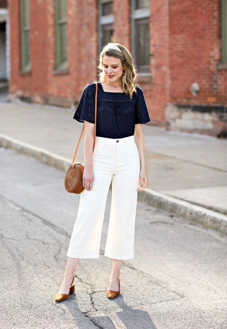how to style wide leg crops