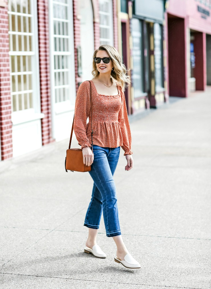 spring outfit idea with mules
