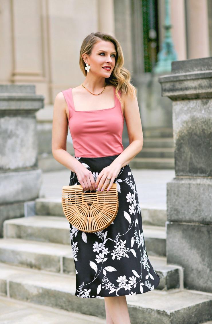 Express Satin Midi Skirt