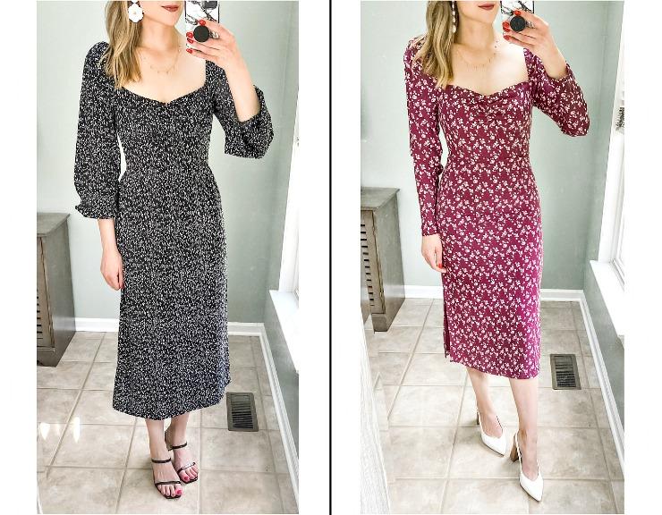 long sleeve midi dresses