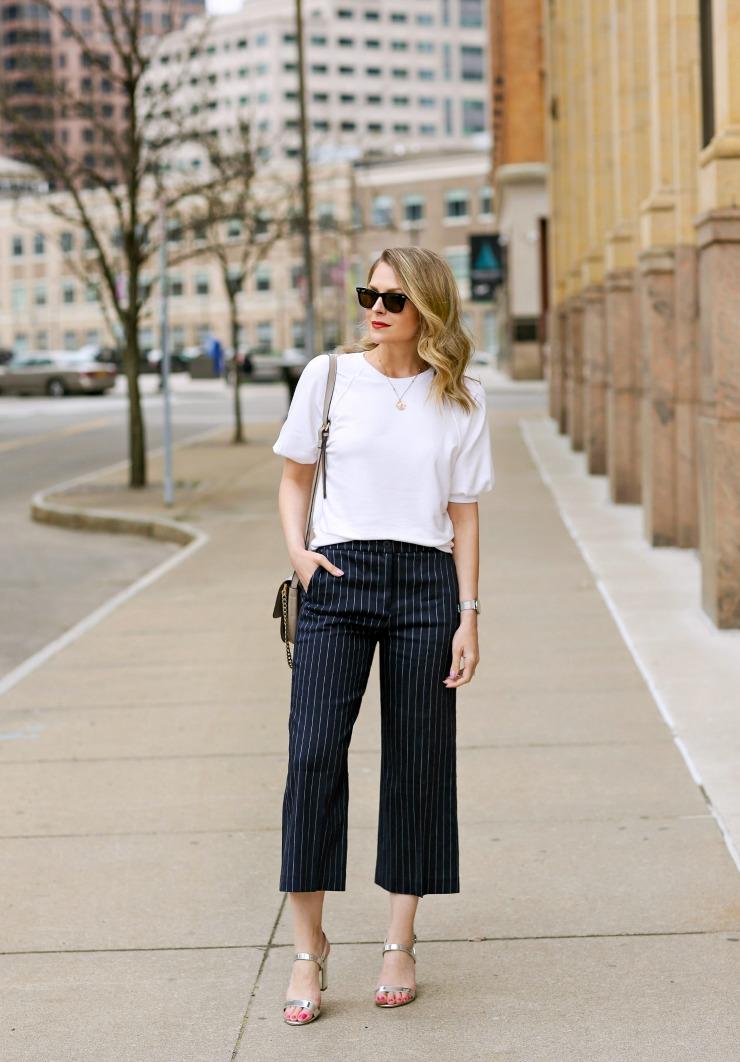 modern pinstripe pants