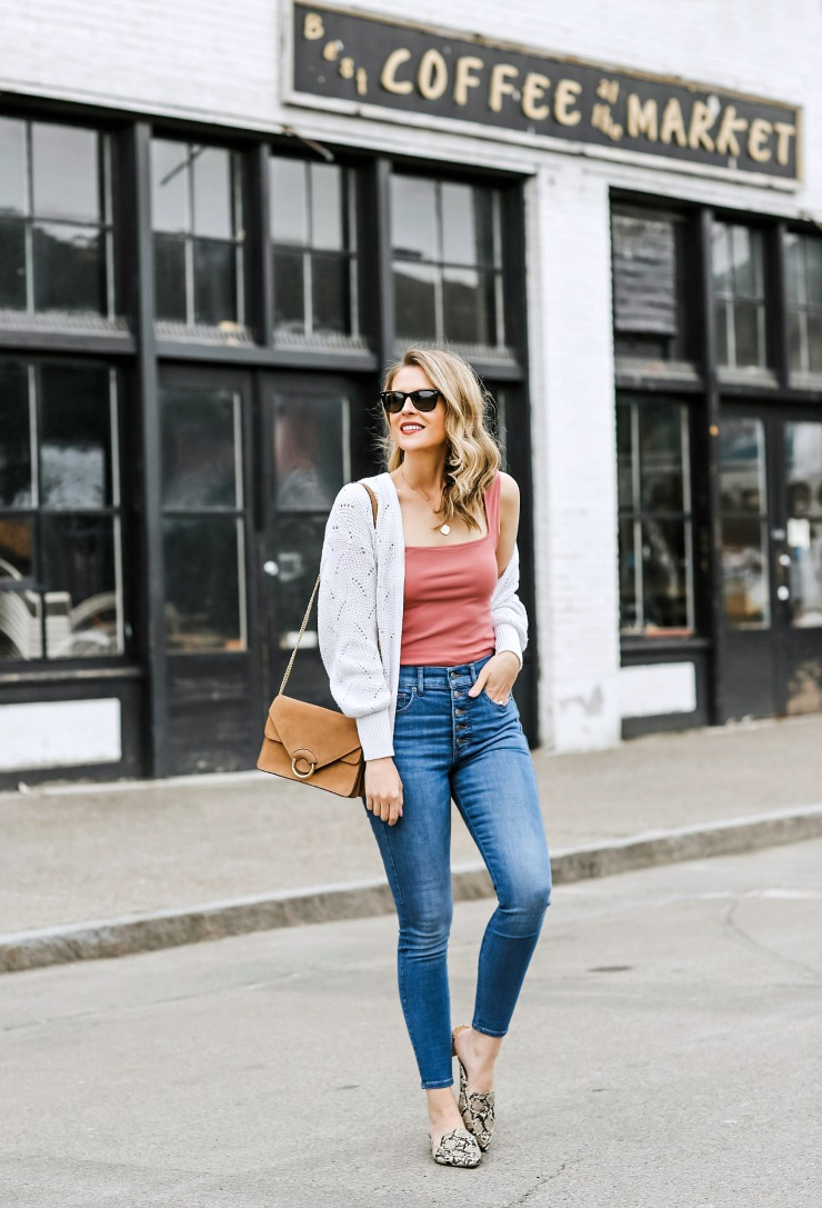 spring layered outfit