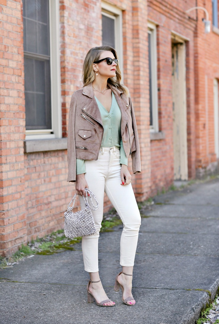 styling a moto jacket for spring