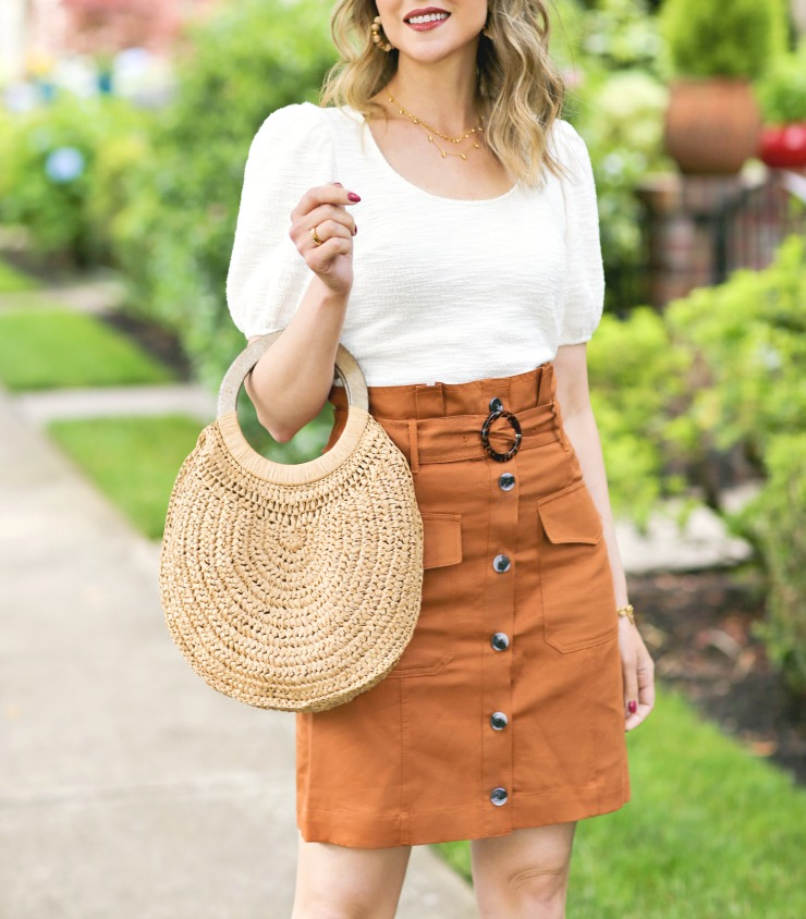 Banana Republic Paperbag Utility Skirt