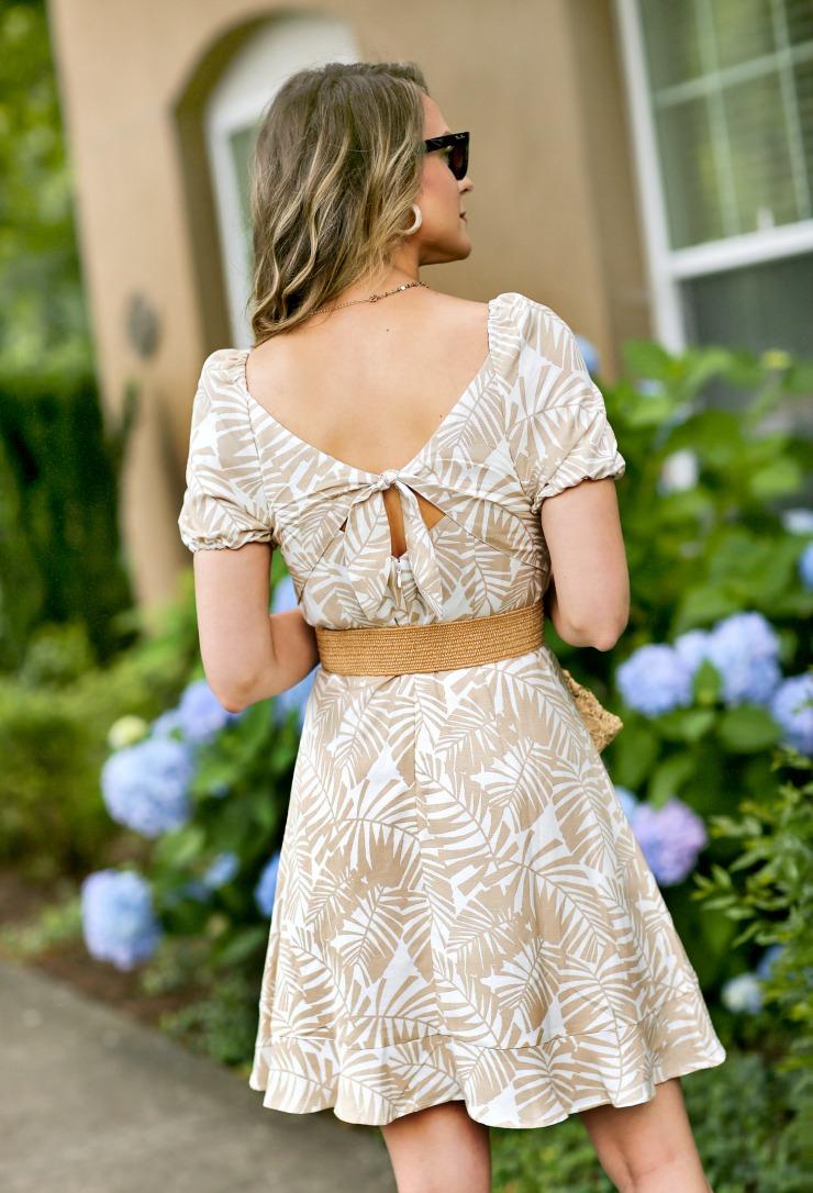 Tie-back dress