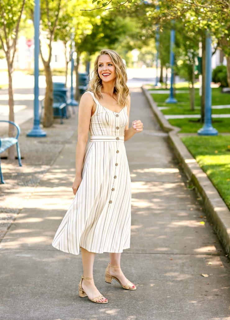 a.n.a midi dress