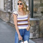 Ruffled Crochet Top