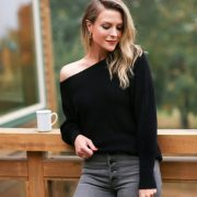 Express asymmetric sweater