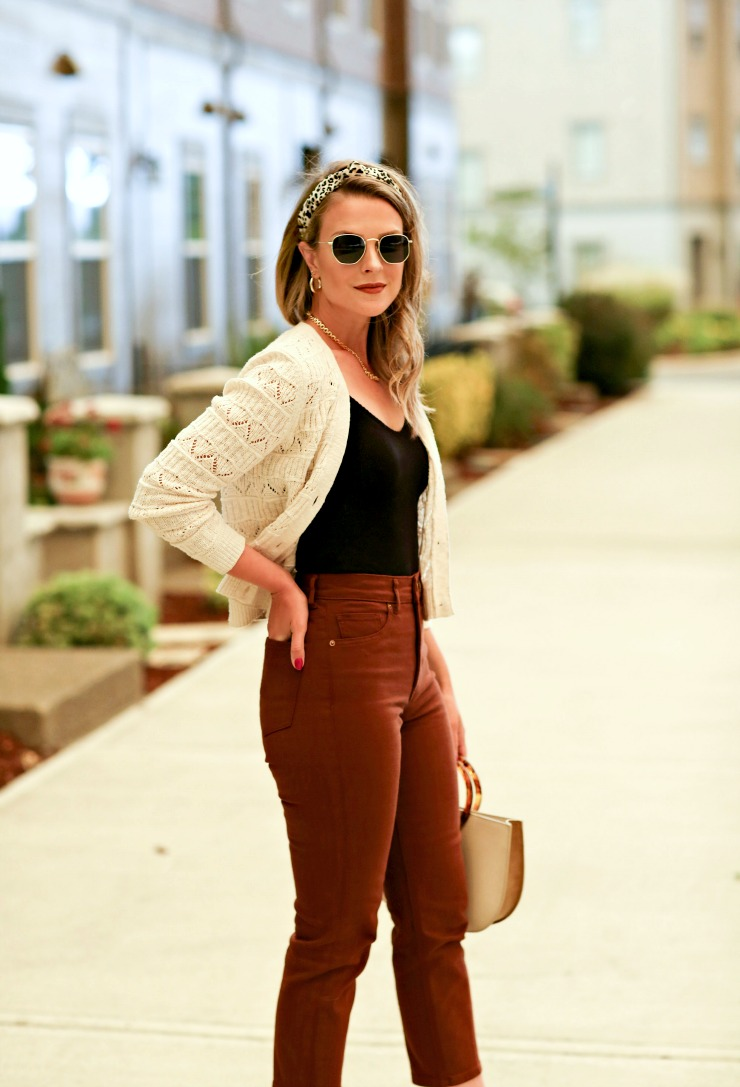 how to style a cropped cardigan