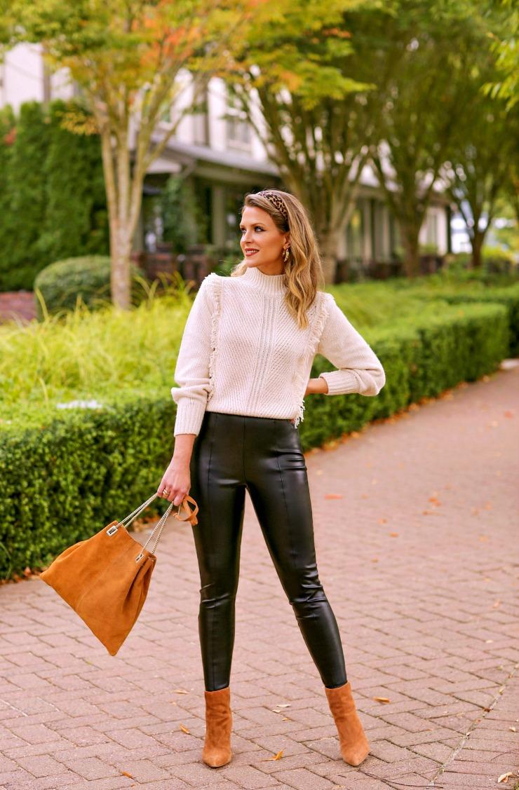Ann Taylor Faux Leather Pants