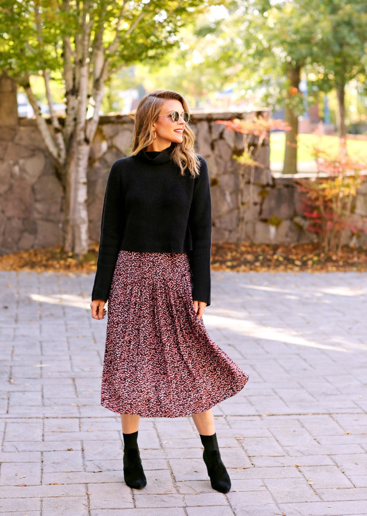 Chelsea28 Floral Midi Skirt
