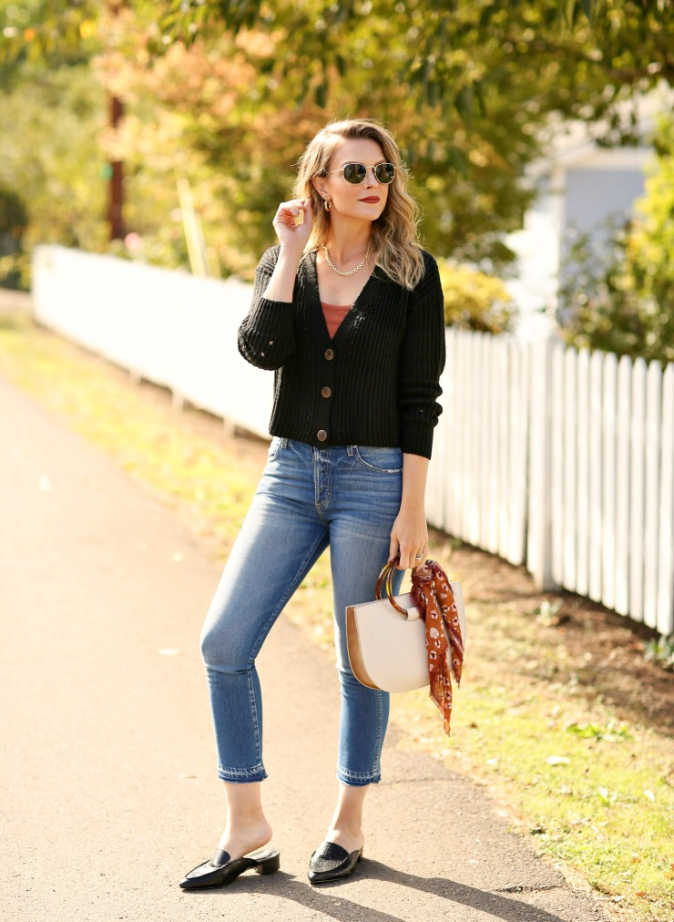 cropped jeans fall outfit