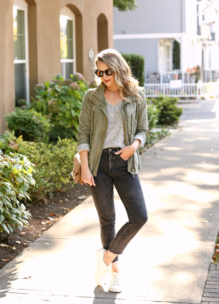 utility jacket fall outfit