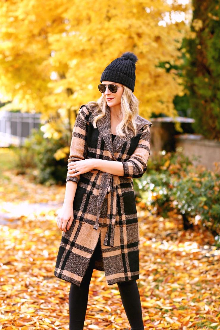 cozy winter plaid