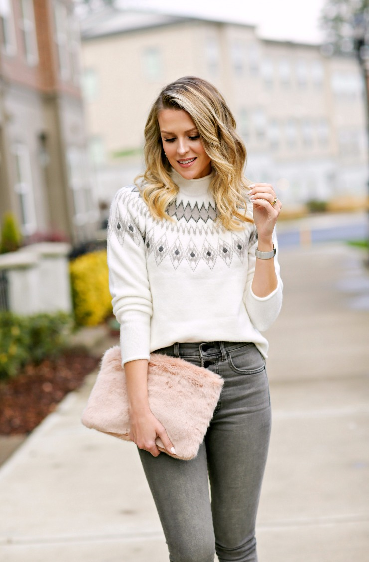modern fair isle sweater