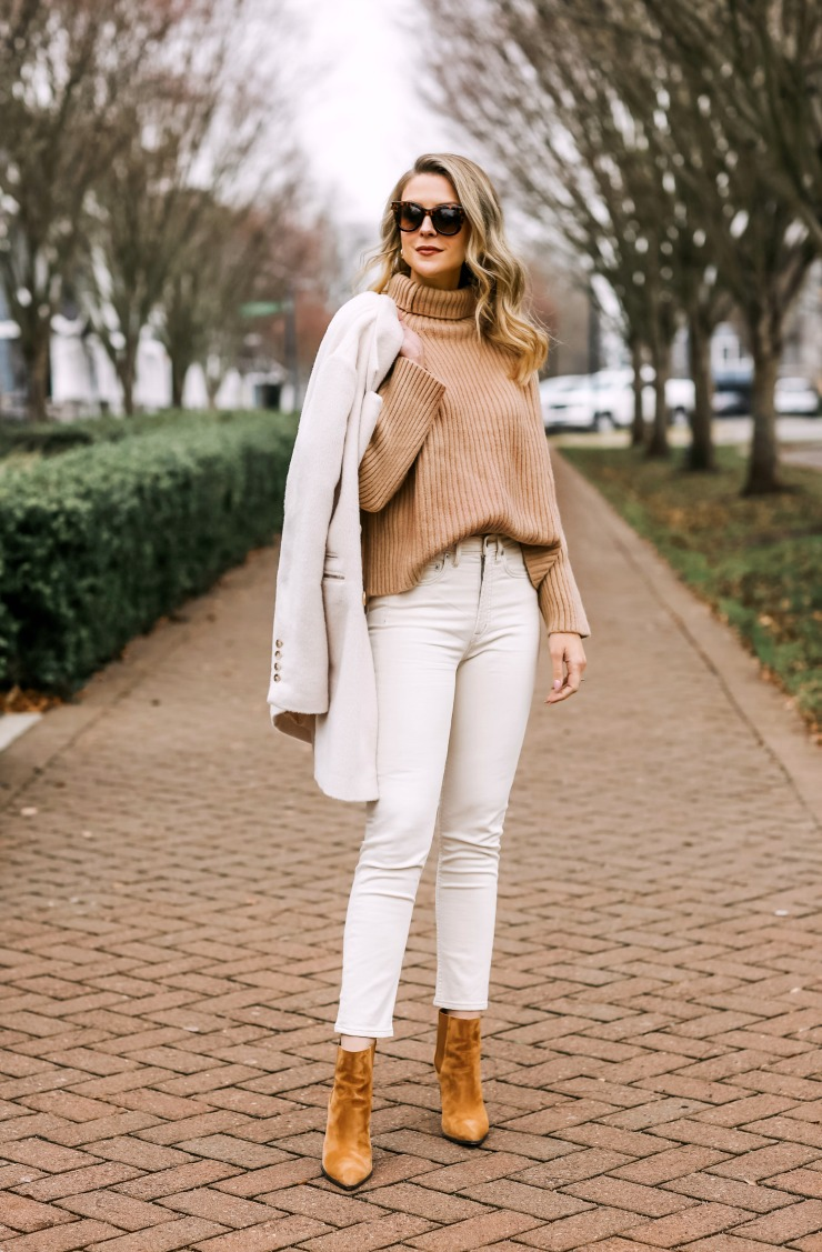 camel & ivory outfit