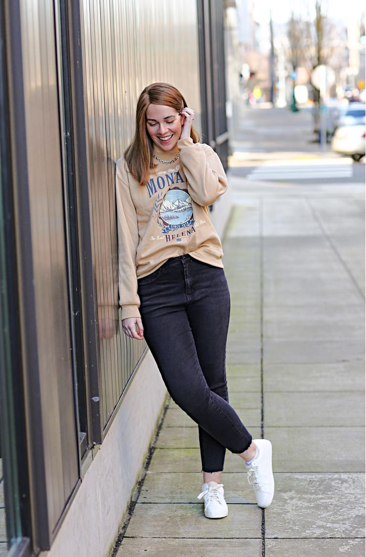 Forever 21 Graphic Sweatshirt