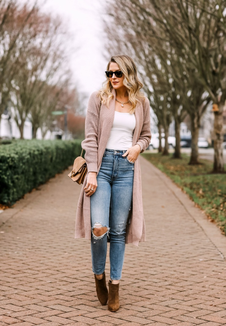 how to style a duster cardigan
