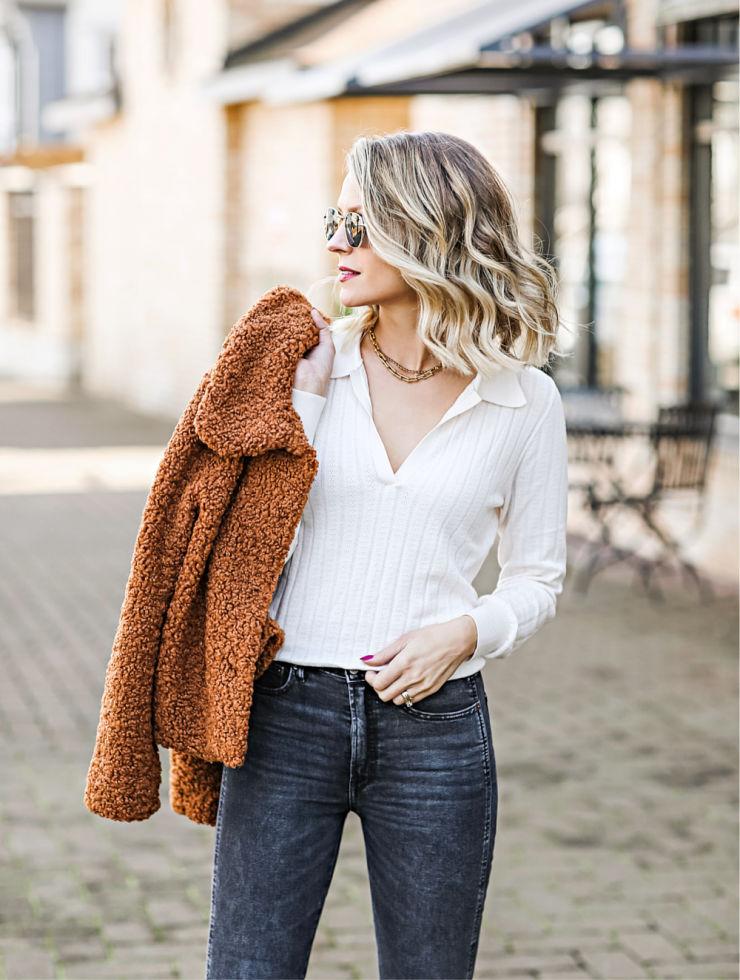 LOFT Polo Sweater