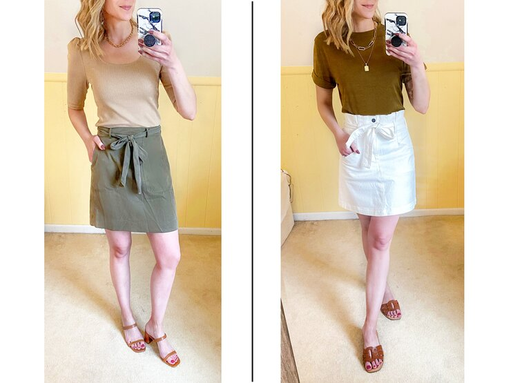spring skirt outfits