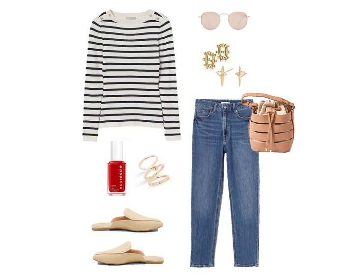 spring stripes outfit