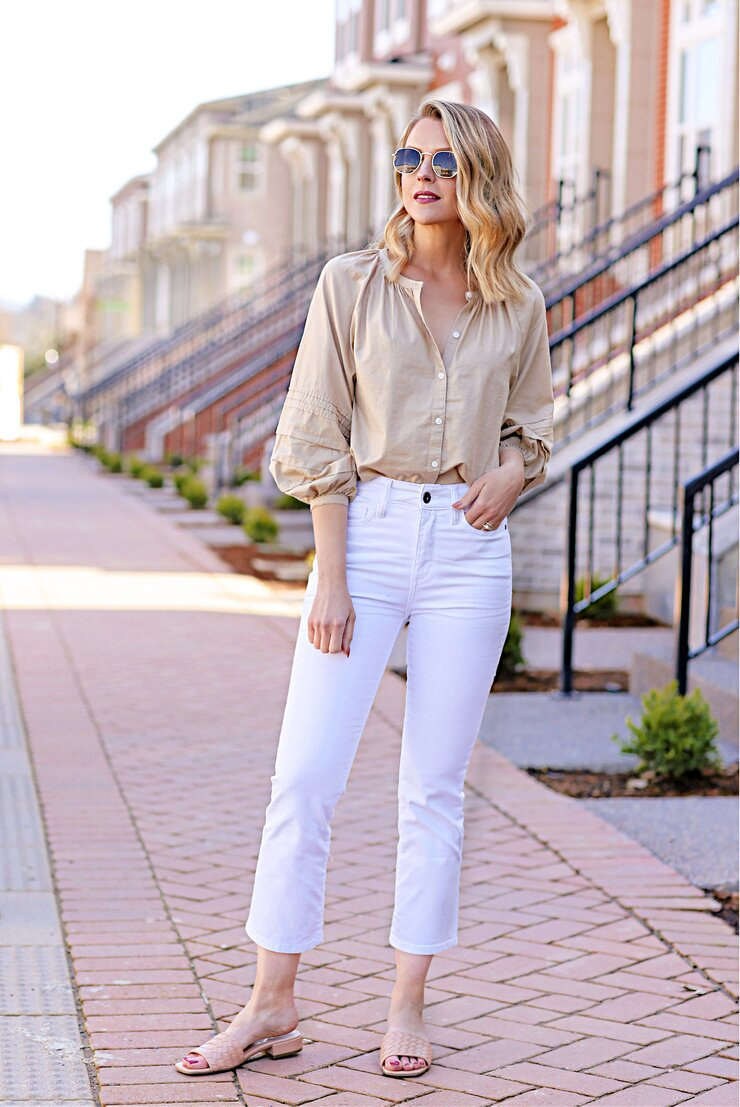 St. Johns Bay Crop Flare Jeans