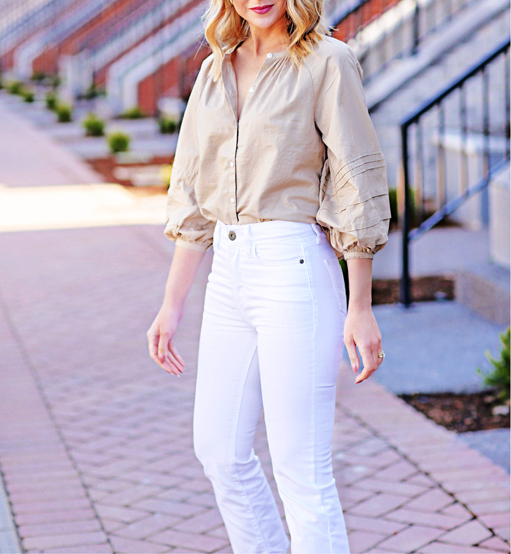white crop flare jeans