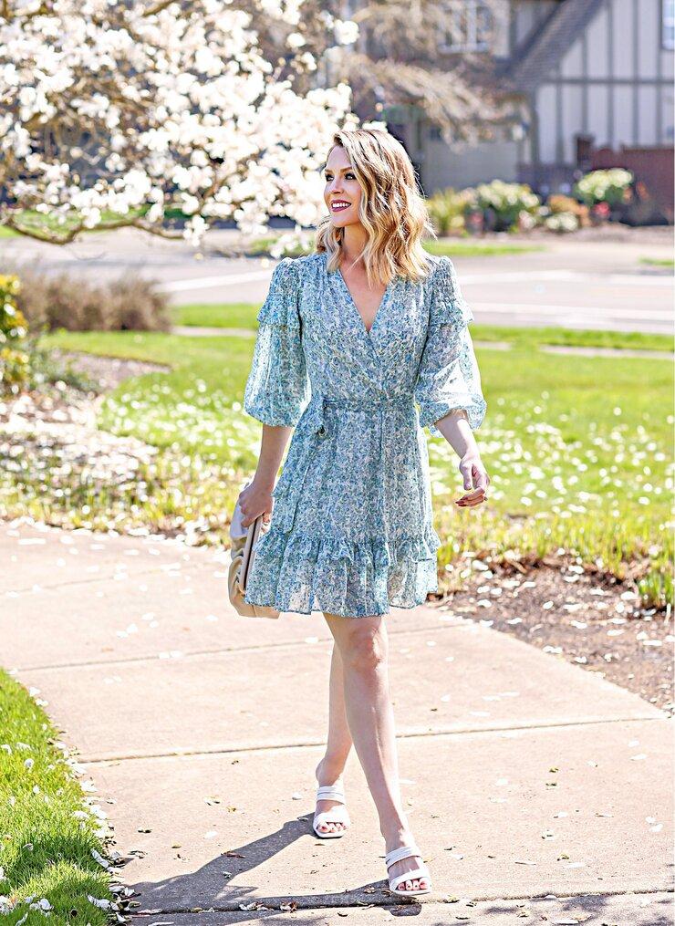 fit & flare floral spring dress