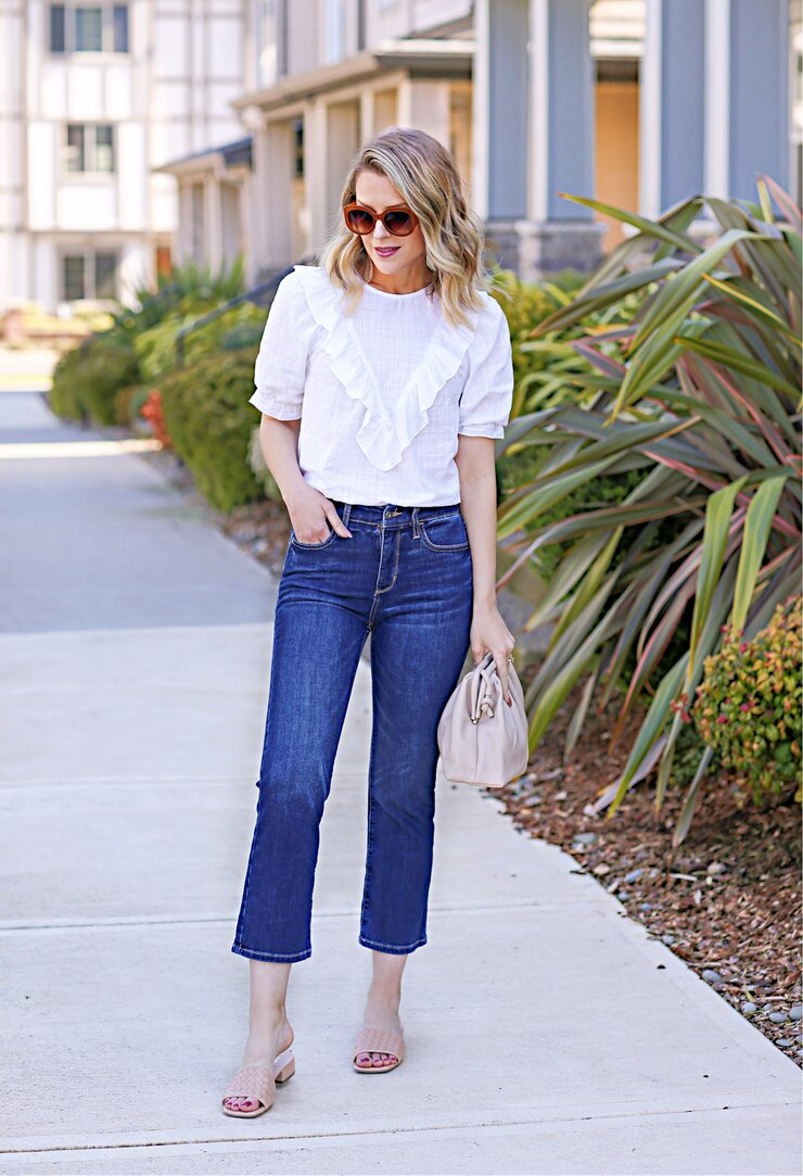 how to style crop flares