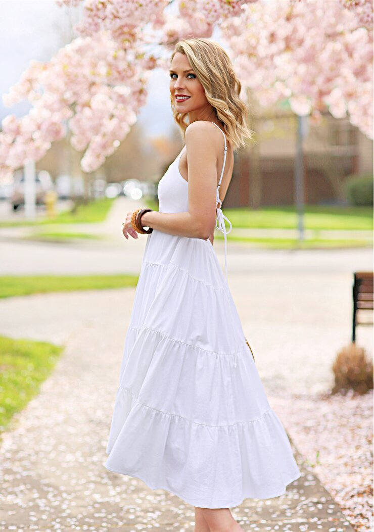 perfect white sundress