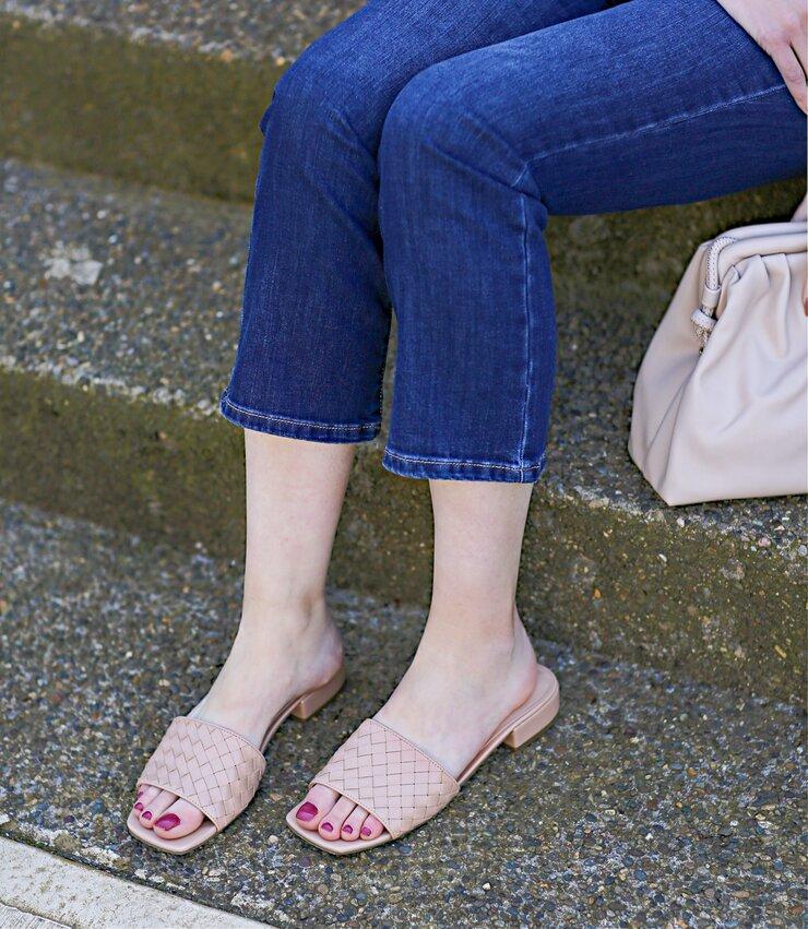 Unisa Woven Slide Sandals