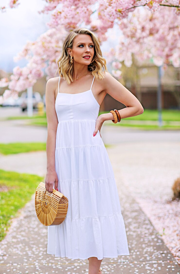 White Tiered Sundress