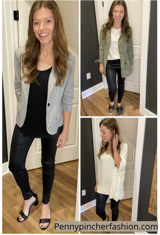 4 Ways to Style Leather Leggings