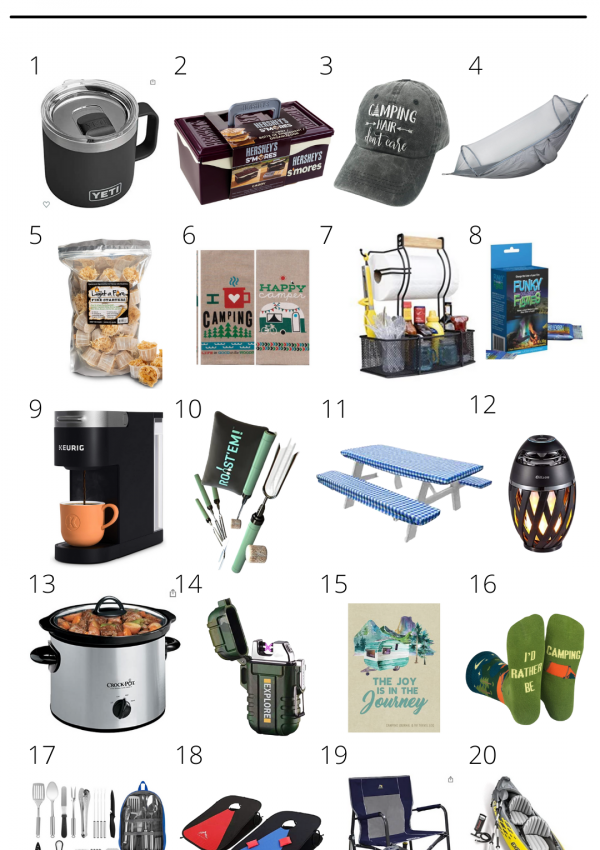 Gift Guide for Camping